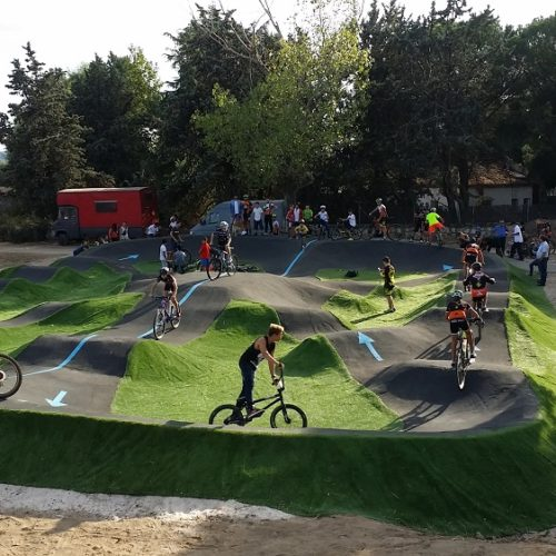 Pumptrack de asfalto en Los Arroyos Madrid